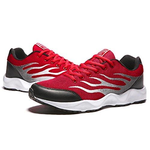 Herren Sportschuhe Ausbildung Turnschuhe Atmungsaktiv wasserdicht Laufschuhe Basketball Schuhe Red