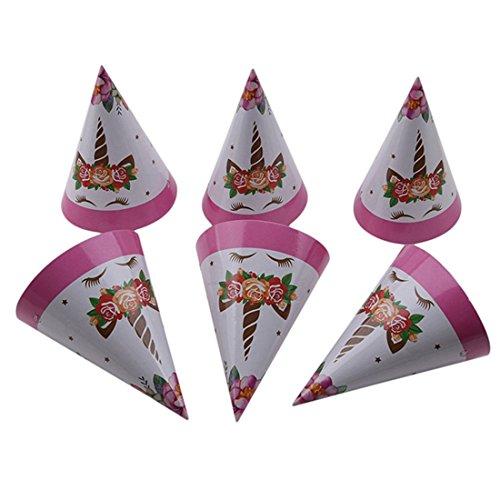 VWH Geburtstag Partyhüte Einhorn Hütchen Geburtstagshüte Partei Hüte für Kinder's Geburtstag Party Dekoration (Party City Dekorationen Geburtstag)