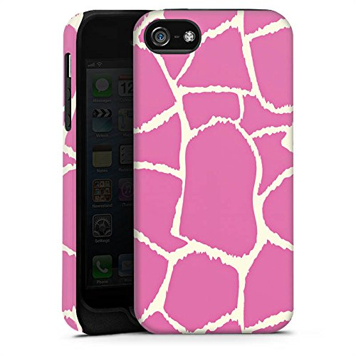 Apple iPhone X Silikon Hülle Case Schutzhülle Giraffe Pink Animal Print Tough Case matt