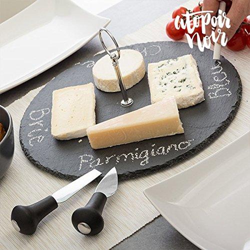 Mazali Ko Serv 170425860 Cheeseplate Set Slate, Stein, mehrfarbig
