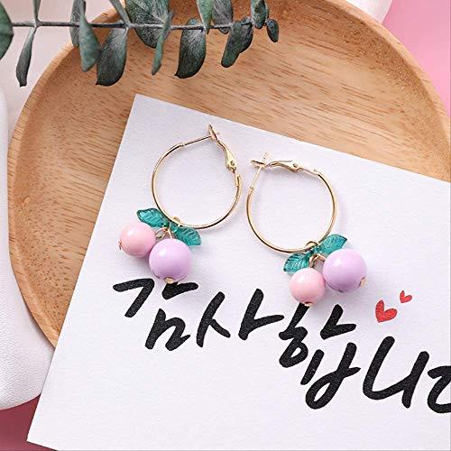 Kirsche Mit 7 Schubladen (Einfache Koreanische Mädchen Nette Ohrringe Orange Kirsche Früchte Kleine Ohrringe Für Mädchen Frauen Zubehör Schmuck7)