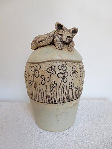 Tier Urne Katze aus Ton (Ton-urne)