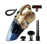 LEAJIA Auto Staubsauger mit Reifen Inflator, Reifendruckmesser, Flutlicht, 12V Multifunktions 4 in 1 trockenen Nass 120W Handvakuum