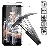2 x Huawei Honor 7X Verre trempé protecteur d'écran, EJBOTH téléphone protection écran haute définition cribler des films protecteurs pour Huawei Honor 7X - 0,26 MM Ultra-mince avec dureté 9H.