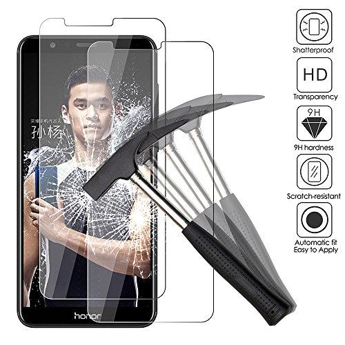 2x Huawei Honor 7x Panzerglas, EJBOTH Premium Schutzfolie Glas Panzerfolie Handy Displayschutz Transparent Kristall- High Definition 9H