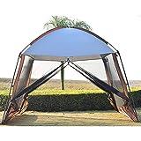 Forall-Ms 3x3m Gran Tienda De Sombra para El Jardín,Mirador con Laterales Carpa para Eventos Al Aire Libre Acampar Al Aire Libre Acampar Al Aire Libre Pantalla Tienda