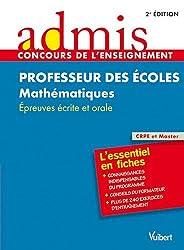 Concours professeurs des écoles mathématiques épreuves écrites