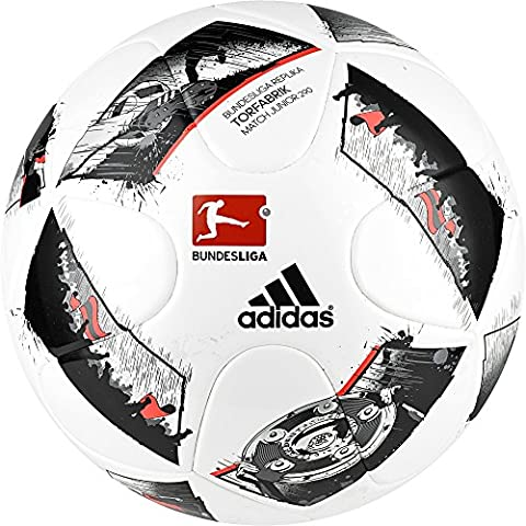adidas Kinder Dfl JUNIOR290 Fußball, White/Black/Solar Red, 4