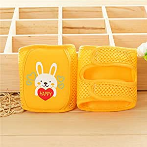 1 Pair Mesh Breathable Knee Pads Crawling Protector Girls Baby Safety Cartoon