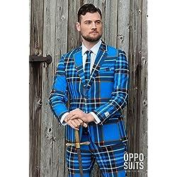 Traje Opposuit Braveheart ta. 48- 60 carnaval Scot azul