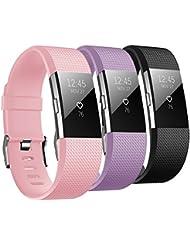 Fitbit Charge 2 Armband, Hanlesi Silikon Einstellbare Ersatz Sport Uhrenarmband für Fitbit Charge 2 Smartwatch Armbander