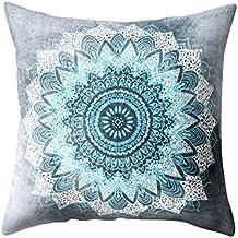 Sintética de moda Impreso Funda de almohada cama Manta de sofá cuadrado funda de cojín decoración para el hogar, 3#, talla única