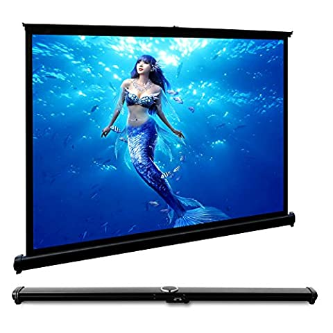 CAIWEI Projection Screen 40 Inches 4:3 Stand Mobile Portable Desktop