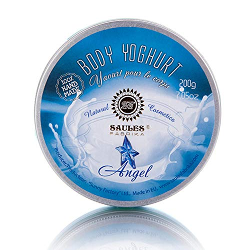 SAULES FABRIKA Body-Yoghurt, Body-lotion mit langanhaltendem Duft, Körper-creme, SPA-Erlebnis, 100% Bio, Vegan, Handmade Duft: Angel -