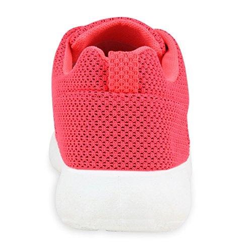 Damen Herren Sneaker Sportschuhe schwarz Turnschuhe Runners mit Blumen Print in mehreren Farben Coral Brooklyn