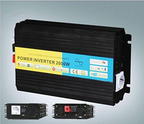 Preisvergleich Produktbild Gowe 2000W/2kW 12V DC bis 220V AC reiner Sinus Wechselrichter (4kW Peak Power) Universal/Deutschland/Französisch/Australien Sockel erhältlich