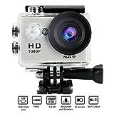 Yuntab W9 Action Camera WIFI Sport Full HD 1080P HDMI TV port Etanche 30M Enregistreur Vidéo Numérique 12MP, 170°HD Grand-Angle avec le Boîtier Etanche Multiples ACCESSOIRES OFFERTS argenté