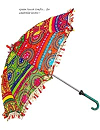 Little India Colorful Design Rajasthani Umbrella Handicraft