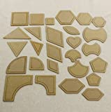 DIY Patchwork Vorlagen Quilt Patchwork Werkzeuge 54pc Different Styling für Quilting-Projekt