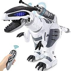 Idea Regalo - SGILE Robot Giocattolo Bambini, RC Dinosauro con Controllo dei Gesti, Programmabile Intelligente e Camminare Ballare Giocattolo, Regalo di Natale per Bambini