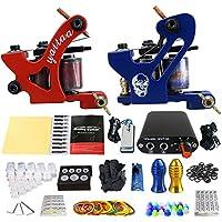 RWANG Kit De Herramientas De Maquillaje Completo Kit De Máquina De Tatuaje Para Arrancador 2 Ametralladoras Pedal De Pie, Cable De Clip, Cable De Alimentación Diseño Simple Y De Moda Disponible (TK204-34)