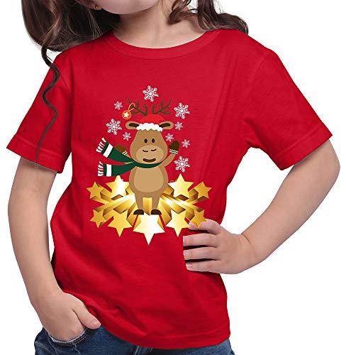 HARIZ  Mädchen T-Shirt Süßer Elch Weihnachten Weihnachts -
