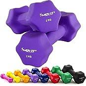 MOVIT® 2er Set Neopren Kurzhanteln, 8 Gewichts- und Farbvarianten
