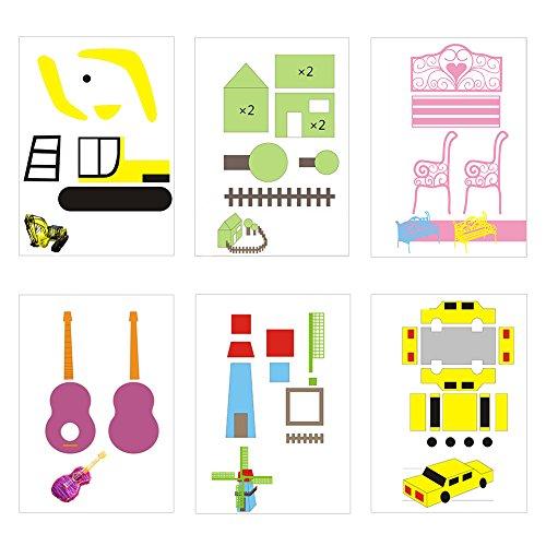 20 Stücke 3D Drucker Zeichnung Papier, Zeichnung Vorlage Papier Formen für 3D Druck Stift mit 40 Cartoon Muster Kinder DIY Geschenk - 4
