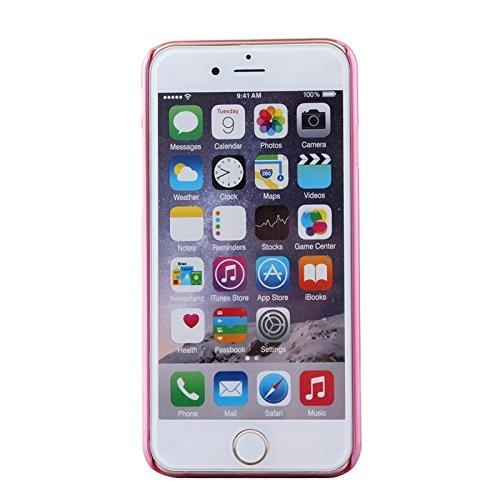 Für IPhone 6 Plus / 6S Plus, UV Shimmering Pulver Diamant-verkrustet Schutzmaßnahmen harten Fall DEXING ( Color : Pink ) Magenta