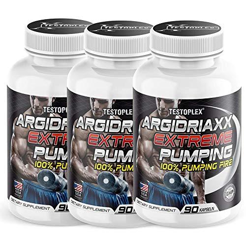 3 x Argidriaxx Extreme Pump   Muskelaufbau   6 x hochdosiertem Arginin   Citrullin   Koffein   Patentierte Formel   Bodybuilding   Fitness   Sport -