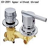 Rétro Deluxe Faucetinging en cuivre de haute qualité Laser Mitigeur pour douche solaire Système, Gris clair