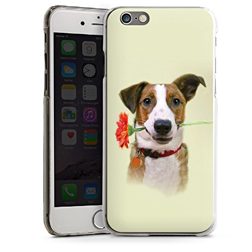 Apple iPhone 4 Housse Étui Silicone Coque Protection Chien Fleur Fleur CasDur transparent