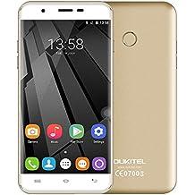 OUKITEL U7 Plus 4G LTE Smartphone 5.5 pulgadas HD Pantalla 1280*720px MTK6737 Quad Core 1.3GHZ CPU 2GB RAM 16GB ROM Android 6.0 13.0MP Cámara Huella Digital