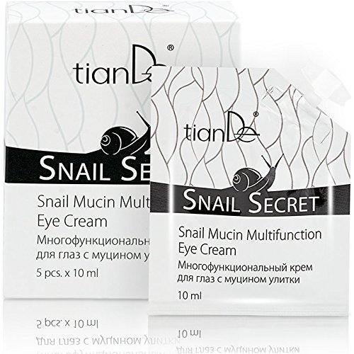 Multilaterale Augencreme mit Schneckenschleim-Extrakt, TianDe 14602 5 x 10g