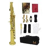 Festnight Sopransaxophon, Bb Lackiertes Saxophon Blasinstrument mit Zubehör
