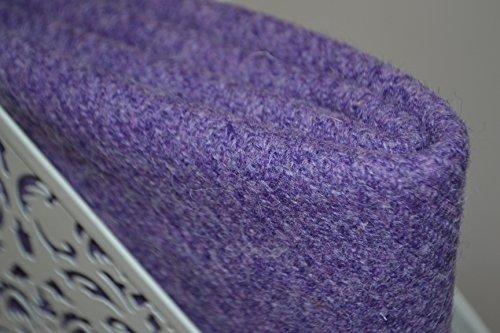 Harris Tweed Stoff 100% reine Schurwolle lila Lavendel violett halben Meter...