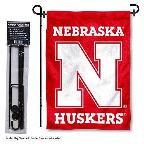 nners Co. Nebraska Cornhuskers Gartenflagge mit Ständer ()