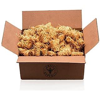 Holzwolle Grill-Anzünder WOOLYS (1,5kg) - ökologische Premium-Anzünder für Grill, Kamin und Ofen - geruchlos - Naturprodukt aus Holz und Wachs - Besonders Lange Brenndauer - Kaminanzünder