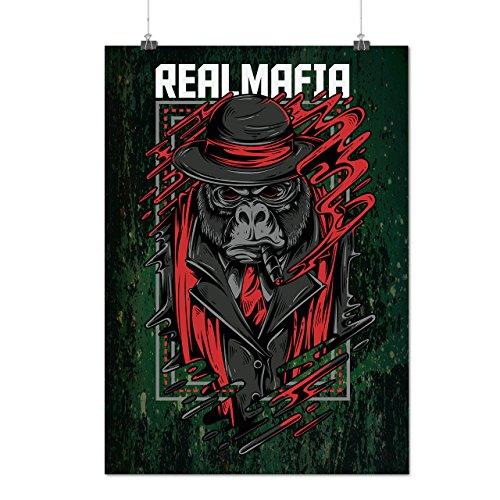 Mafia Gorila Gangster Mattes/Glänzende Plakat A3 (42cm x 30cm) | Wellcoda (Gangsta Paar Kostüm)