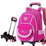 YAAGLE kinderrucksack multi Schultasche kindergepäck mit abnehmbar Teleskopgriff kinderKoffer mit Sechs Räder parataktisch Rucksack Mädchen und Junge