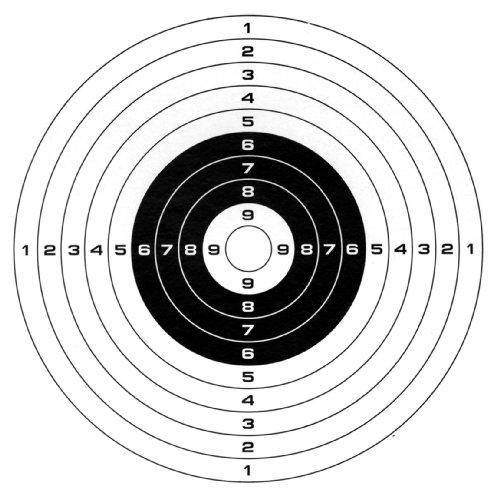 100Stk Softair Zielscheiben Gamo-14cmx14cm, 10er Ringeinheiten des Herstellers Gamo
