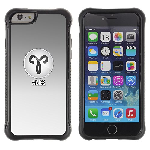 Graphic4You Cancer Krebs Horoskop Tierkreis Zeichen Design Shockproof Anti-Rutsch Weichen Hülle Case Tasche Schutzhülle für Apple iPhone 6 / 6S Aries