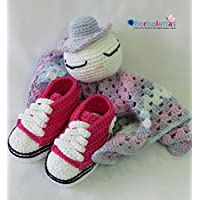 Set de Regalo Recién Nacido BabyChic Fucsia. Hecho a Mano. Crochet. España