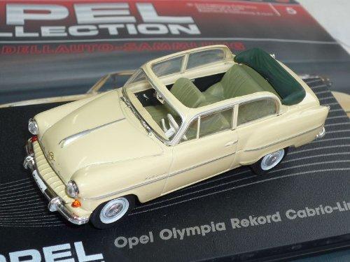 Opel Olympia Rekord Cabrio Limousine Beige 1954-1956 Inkl Zeitschrift Nr 5 1/43 Ixo Modell Auto -