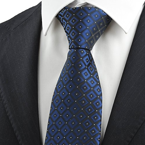 Kissties - Cravate - À Carreaux - Homme Bleu Marine