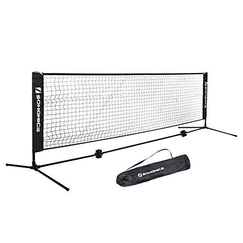 Songmics Filet de Badminton Tennis sur pieds Hauteur réglable de 90 à 155 cm SYQ400H (Modèle familial )