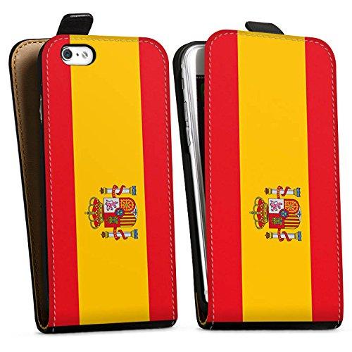 Apple iPhone X Silikon Hülle Case Schutzhülle Spanien Flagge Fußball Downflip Tasche schwarz