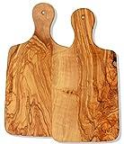 Olivenholz Brettchen COPPIA - 2 große Holzbrettchen 31 x 15 cm