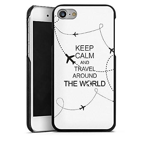 Apple iPhone 7 Lederhülle Leder Case Leder Handyhülle Reisen Travel