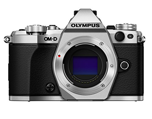 Olympus OM-D E-M5 Mark II Mirrorless Camera, Body Only (Silver)